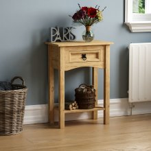 Corona 1 Drawer Console Table With Shelf Hallway Side Dressing Table