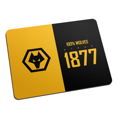 Official Personalised Wolves 100 Percent Mouse Mat