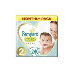 Pampers premium protection size 2 240 Monthly pack