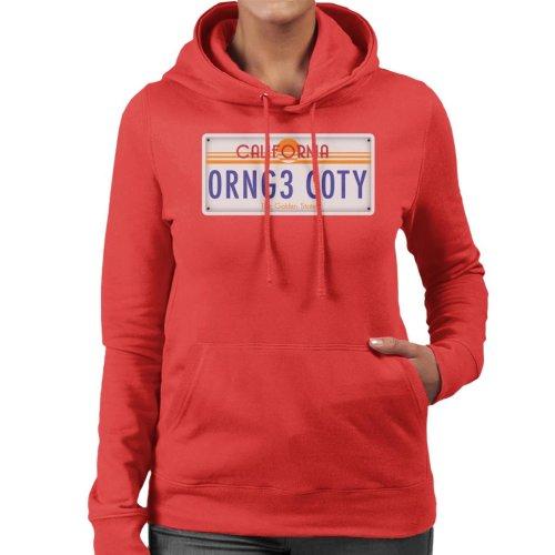 Orange County California License Plate Women's Hooded Sweatshirt