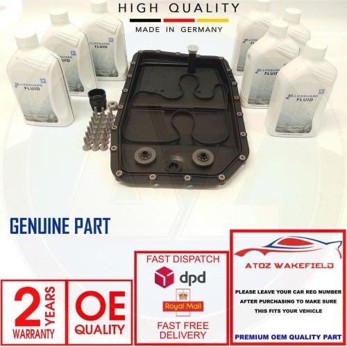 FOR BMW JAGUAR AUTOMATIC TRANSMISSION GEARBOX PAN SUMP FILTER KIT 7L ATF OIL