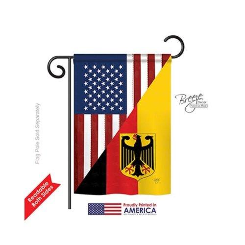 Breeze Decor 58381 US German Friendship 2-Sided Impression Garden Flag - 13 x 18.5 in.