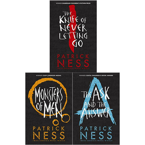 Patrick Ness 3 Books Collection Set Chaos Walking Trilogy Series