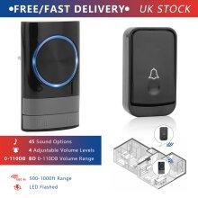 Waterproof Door Cordless Doorbell Range Home Wireless Door Bell