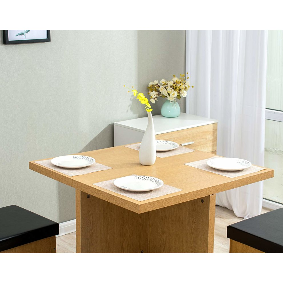 Cherry Tree Furniture 5-Piece Dining Table and 4 Stools ...