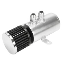Aluminum 0.75L Oil Catch Can Reservoir Tank Breather Filter Baffled Kit For AN10 Various Types Of Connections Configurations