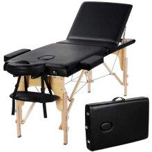 Portable Massage Table Adjustable Hight Backrest 3 Sections