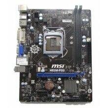 MSI H81M-P33 Micro ATX Motherboard LGA 1150 DDR3 I/O SHIELD INCLUDED - Used