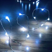 Waterproof Vine Fairy Lights, 20 LEDs per String, 3 Mode ON,SLOW/FAST FLASH, OFF