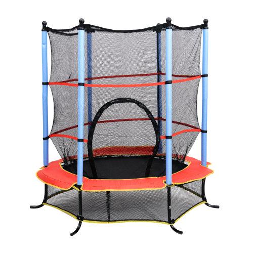 HOMCOM Kids Trampoline   Enclosed Trampoline For Small Children