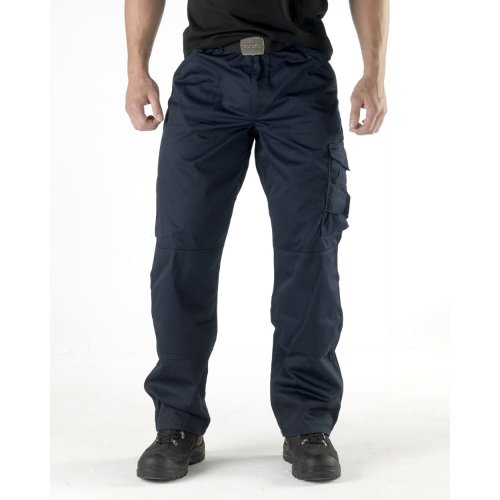 (40in Waist / 31in Leg, Navy) Scruffs Worker Trousers Navy Men's