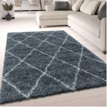 Fluffy Rug Grey Shaggy Thick Soft Large Small Diamond Carpet for Living Room Bedroom