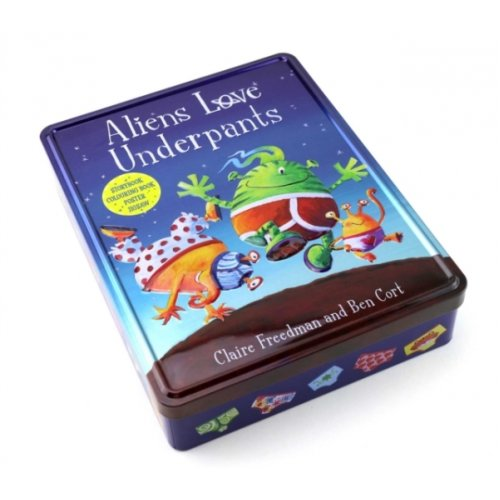 Aliens Love Underpants Anniversary Tin by Claire Freedman & Illustrated by Ben Cort