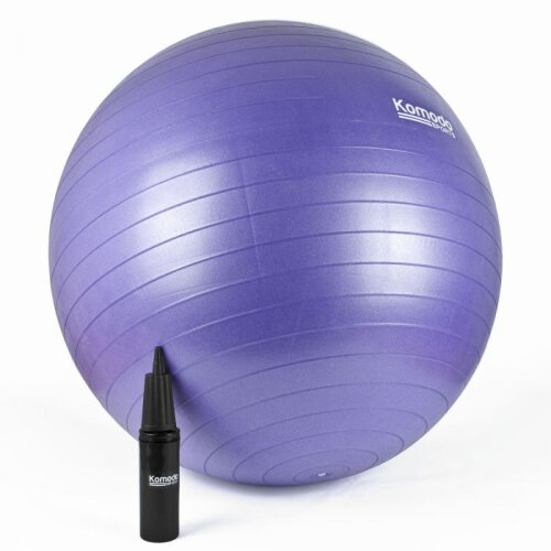 (85cm, Purple) Yoga Ball - Anti-Burst Exercise Pilates Fitness Balance Pregnancy Core Workout