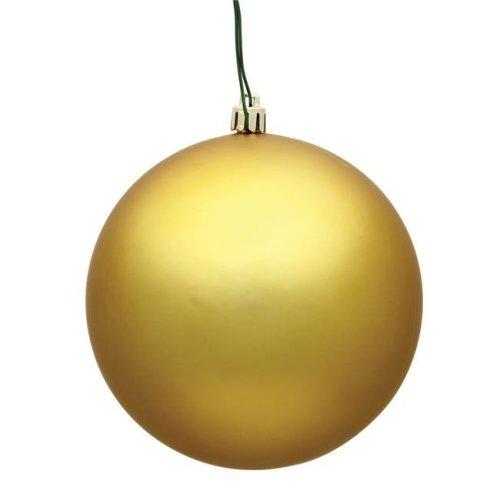 Gold Matte UV Drilled Ball Ornament, 4.75 in. - 4 per Bag