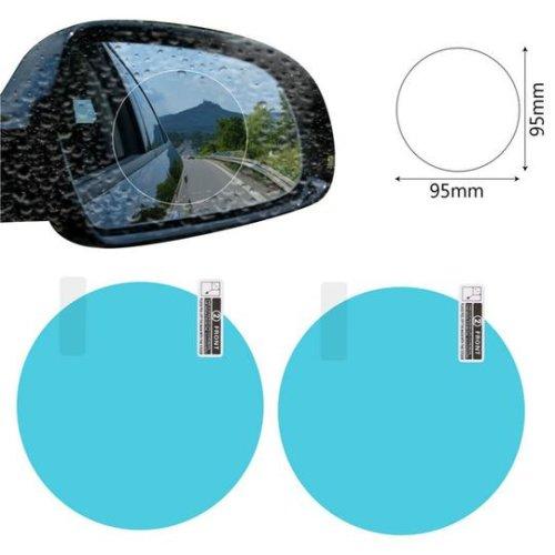 (95X95MM) 2PCS Rainproof Car Film Waterproof Clear Film