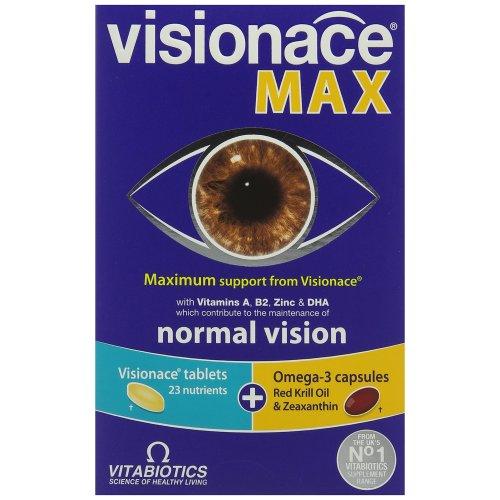 Vitabiotics Visionace Max - 56 Tablets/Capsules