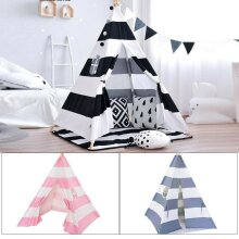 Large Cotton Tent Canvas Kids Teepee Childrens Wigwam Indoor Outdoor Play House