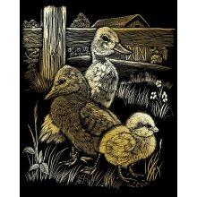 "Gold Foil Engraving Art Kit 8""X10""-Hatchlings"