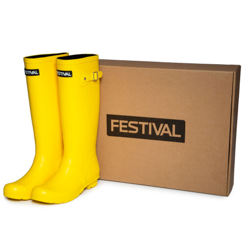 (Size 8) Festival Womens Lined Wellington Boots