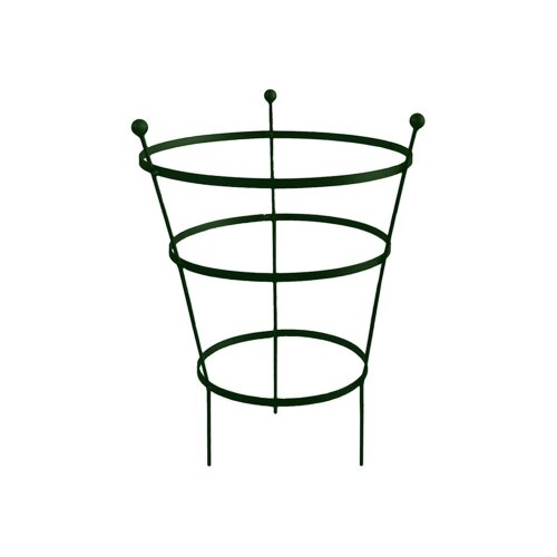 92cm Tall Peony Cage Plant Support - Plastic Coated in Black- Single