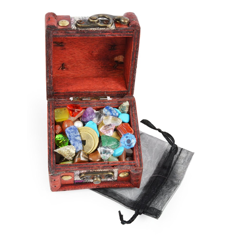 Bag Of Pirate Treasure Filled With Pyrite Pieces Party Christmas Stocking Filler