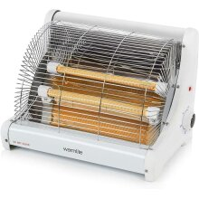 Warmlite Portable Heater 1200w Radiant Heater 2 Bar Heater with Ceramic Heating Elements Free