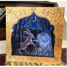 Harebell lantern greetings card by Hannah Willow