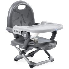 Chicco Pocket Snack Booster Seat - Dark Grey, Height Adjustable