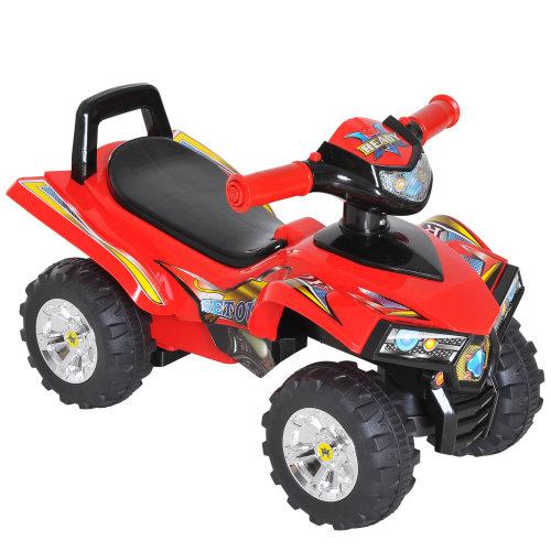 HOMCOM Kids Ride On Quads Boys Girls LED Lights Horn Music Toys 4 Wheels Red