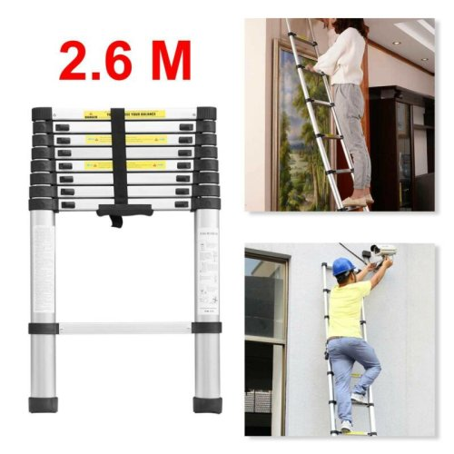 Telescopic loft ladder extendable collapsible step ladders secure UK