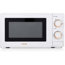 Tower T24029WRG Manual Solo Microwave 700 W, 17L, Black/Rose Gold
