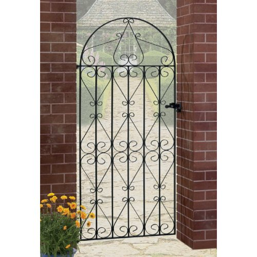 Regent Scroll Tall Garden Gates galvanised metal