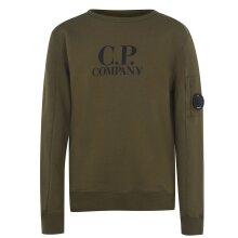 CP Company Kids Junior Age 6 Fleece Logo Print Lens Sweatshirt in Khaki Green Not Stone Island Shirt Top Jacket Coat Jean Combats Hoodie Ha