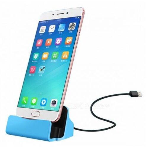 Motorola Moto E6 Plus Micro USB Blue Desktop Charger & Sync Dock