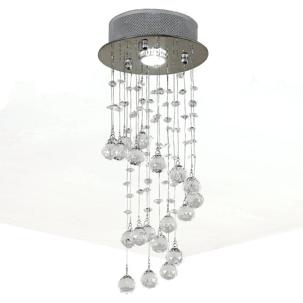 Stairwell crystal raindrop chandelier lights modern staircase pendant lamp
