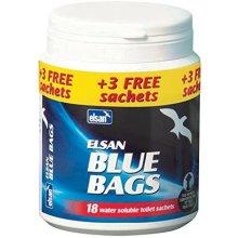 Elsan BAG15 Chemical Toilet Bags-Blue