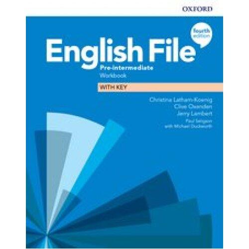 English File 4E Pre Intermediate Workbook with Key