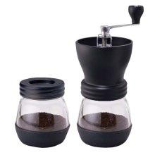 Kabalo Manual Coffee Bean Grinder & Nut/Spice with Ceramic Burr, Glass Jar Classic Kitchen Tool Espresso Accessory Additional Storage Jar