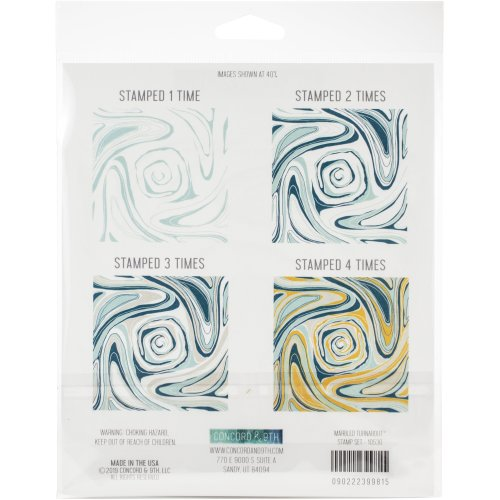 """Concord & 9Th Clear Stamps 6""""X6""""-Marbled Turnabout"""
