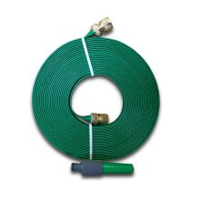 10m Green Flat Hose with Brass Fittings