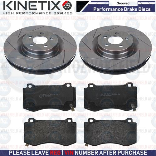 FOR CHRYSLER 300c 5.7 FRONT GROOVED PERFORMANCE BRAKE DISCS PADS 360mm PAIR