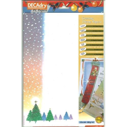 Decadry A4 Christmas Greeting Letterhead Invitation Paper Card