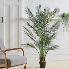 Outdoor Realistic Artificial Palm Tree Plant with Pot