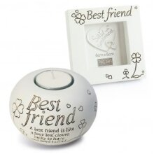 Said with Sentiment Tea Light and Frame Gift Set - Best Friend