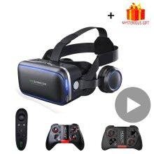 6.0 Casque VR Virtual Reality Glasses 3D Goggles Headset Helmet For Smartphone Viar Binoculars Video Game