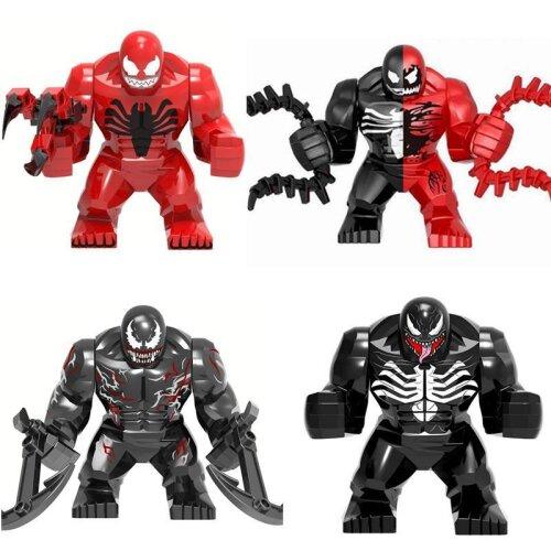 Character Venom Big Size, Anti Carnage Model, Figure Blocks, Construction Building Bricks Toys For Children