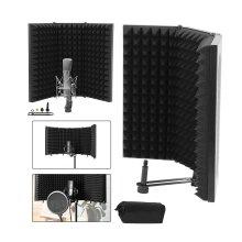 Adjustable Studio Microphone Isolation Shield Mic Sound Foam Reflector