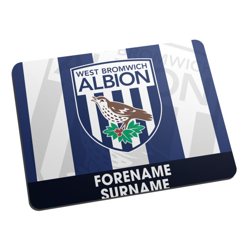 Official Personalised West Bromwich Albion FC Bold Crest Mouse Mat