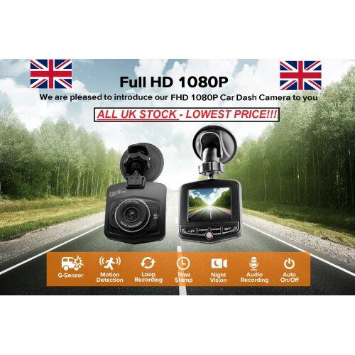 "DASH CAM VEHICLE BLACK BOX DVR 1080 FULL HD 2.4"" LCD FHD"